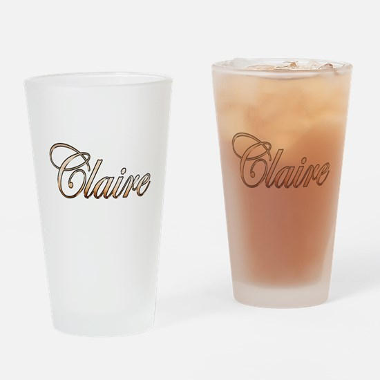 Funny Claires Drinking Glass