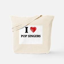I love Pop Singers Tote Bag