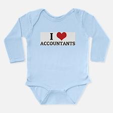 I Love Accountants Infant Creeper Body Suit