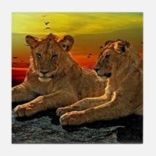 Lion Love Tile Coaster