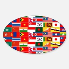 Asian Flags Decal