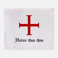 Holier Than Thou | Templar Cross Throw Blanket