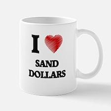 I love Sand Dollars Mugs
