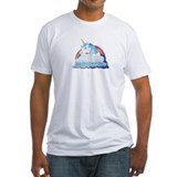 Central intelligence unicorn Fitted Light T-Shirts