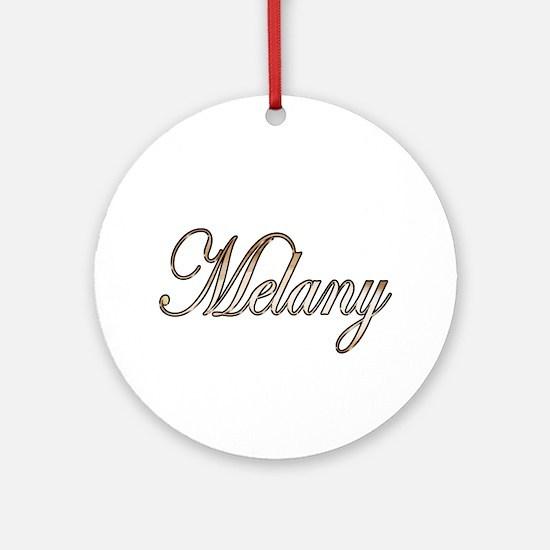 Unique Melany Round Ornament