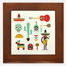 Cute Cinco de mayo Framed Tile