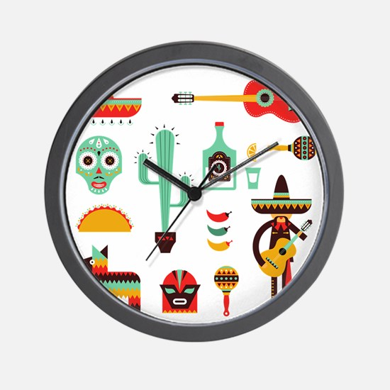 Cute Chili peppers Wall Clock