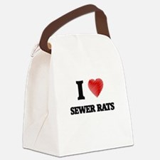 I love Sewer Rats Canvas Lunch Bag