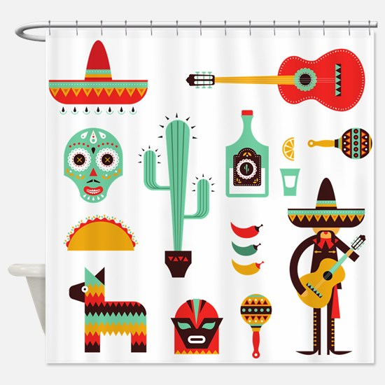 mexican Shower Curtain