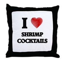 I love Shrimp Cocktails Throw Pillow