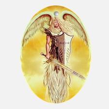 angel michael Oval Ornament