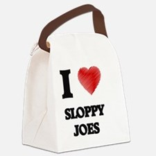 I love Sloppy Joes Canvas Lunch Bag