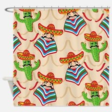 mexican cactus Shower Curtain