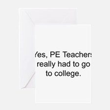 Funny Physical education Greeting Card