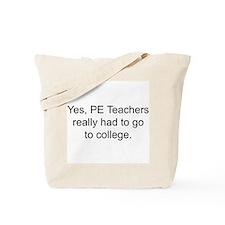 Unique Pe teacher Tote Bag