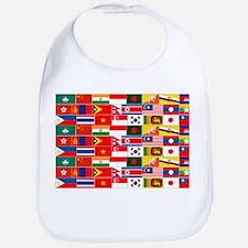 Asian Flags Bib