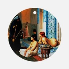 Gerome - Pool in a Harem Round Ornament