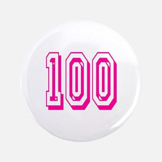 100 Pink Birthday Button