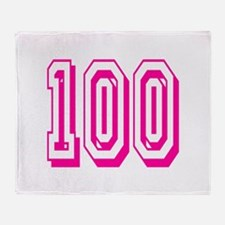100 Pink Birthday Throw Blanket
