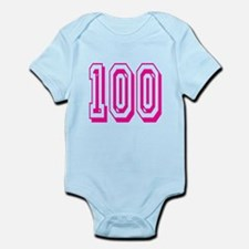 100 Pink Birthday Infant Bodysuit
