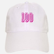 100 Pink Birthday Baseball Baseball Cap