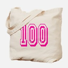 100 Pink Birthday Tote Bag
