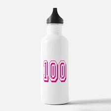 100 Pink Birthday Water Bottle