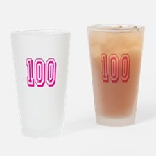 100 Pink Birthday Drinking Glass