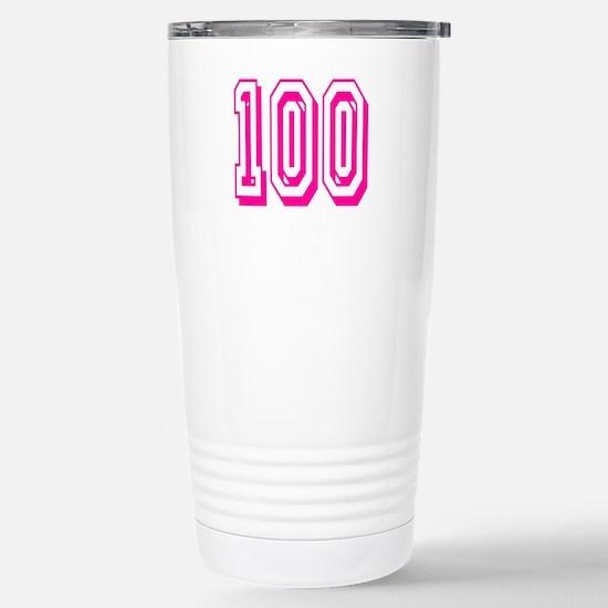 100 Pink Birthday Stainless Steel Travel Mug