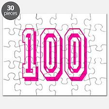 100 Pink Birthday Puzzle