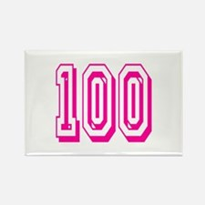 100 Pink Birthday Rectangle Magnet