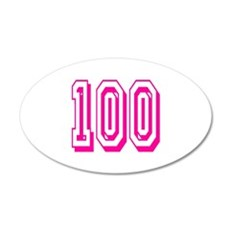 100 Pink Birthday Wall Decal