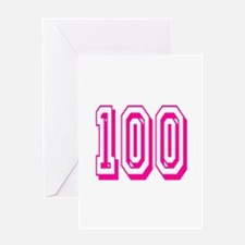 100 Pink Birthday Greeting Card