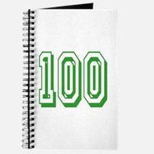 100 Green Birthday Journal