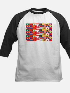 Asian Flags Baseball Jersey