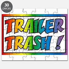 Trailer trash rainbow Puzzle