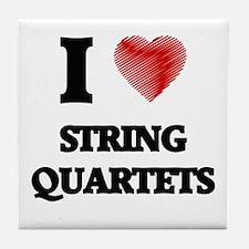 I love String Quartets Tile Coaster