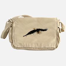 Watercolor Soaring Eagle Messenger Bag