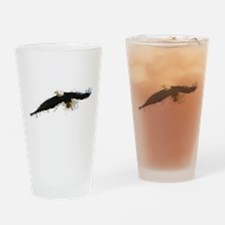 Watercolor Soaring Eagle Drinking Glass