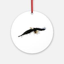 Watercolor Soaring Eagle Round Ornament