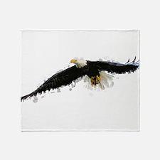 Watercolor Soaring Eagle Throw Blanket