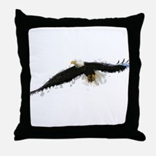 Watercolor Soaring Eagle Throw Pillow