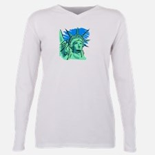 Statue of Liberty.png Plus Size Long Sleeve Tee