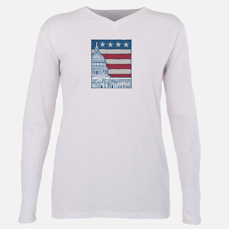Capitol.png Plus Size Long Sleeve Tee