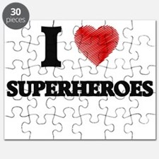 I love Superheroes Puzzle