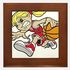 BASKET GIRL AUTISM RIBBON Framed Tile