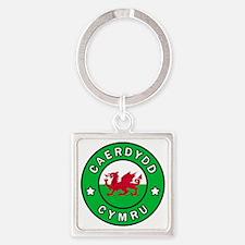 Cute Cymraeg Square Keychain