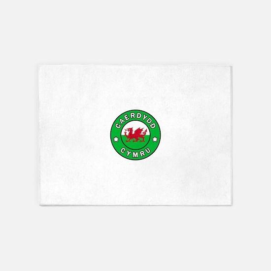 Caerdydd Cymru 5'x7'Area Rug