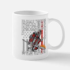 I Fear No Evil Firefighter Crusader Mug