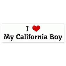 I Love My California Boy Bumper Bumper Sticker